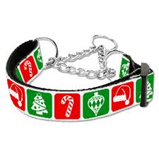 Martingale Xmas Dog Collar